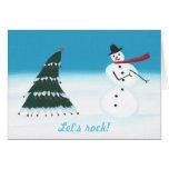 Gelassen uns schaukeln, Weihnachtsbaum Karte