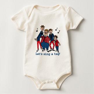 Gelassen uns singen Sie einen Umbau Baby Strampler