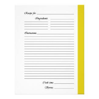 Gelb 2 versah Rezept-Seiten mit Seiten