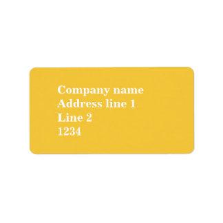 Gelb Adress Aufkleber