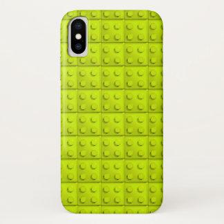Gelb blockiert Muster iPhone X Hülle