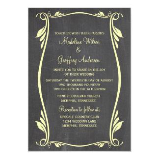 Gelb blühen Tafel-Hochzeit einladen 12,7 X 17,8 Cm Einladungskarte