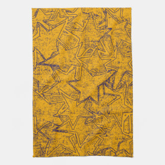 Gelb gemalte Sternchen-Vereinbarung Handtuch
