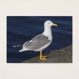 Gelb-Mit Beinen versehene Möve Visitenkarte