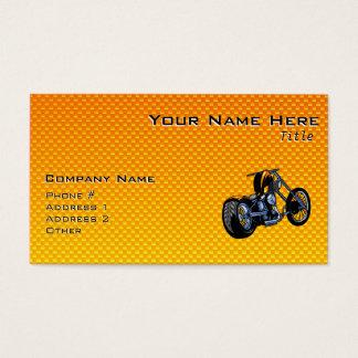 Gelb-orangeer Chopper Visitenkarte