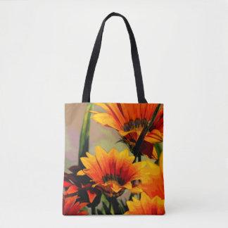 Gelb-orangees Blumen Tasche