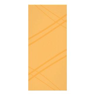 Gelb-orangees Crissed gekreuzt Werbekarte