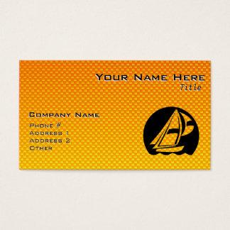Gelb-orangees Segeln Visitenkarte