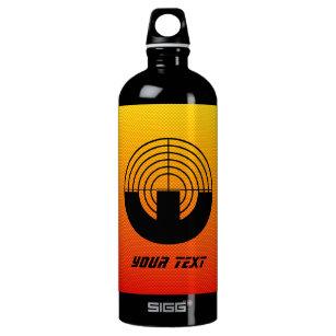 Gelb-orangees Sport-Schießen Wasserflasche