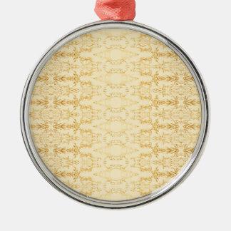 gelb silbernes ornament