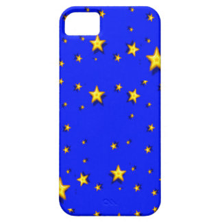 Gelb-Sterne auf Blau iPhone 5 Schutzhüllen