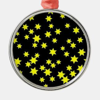 Gelb-Sterne Silbernes Ornament
