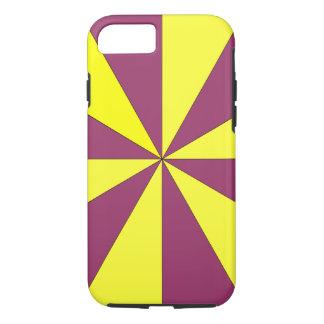 Gelb und Lila iPhone 7 Hülle
