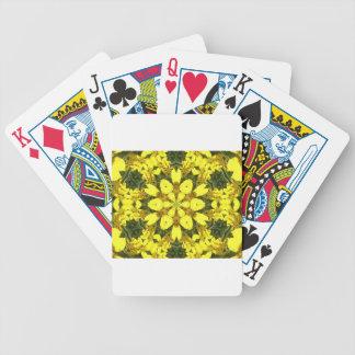 gelbe abstrakte Entwurfsmit blumengänseblümchen Bicycle Spielkarten