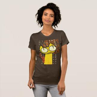 Gelbe Anstarrenkatze T-Shirt