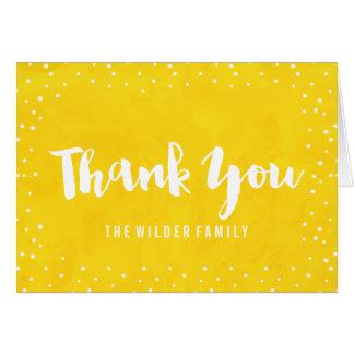 Gelbe Aquarell-Babyparty | danken Ihnen zu Karte