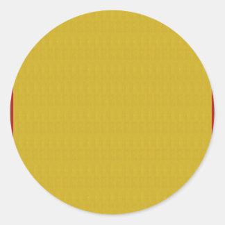 Gelbe Beschaffenheiten n des Goldn schattiert Runder Aufkleber