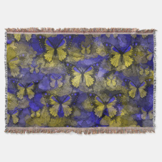 Gelbe blaue Schmetterlinge Decke