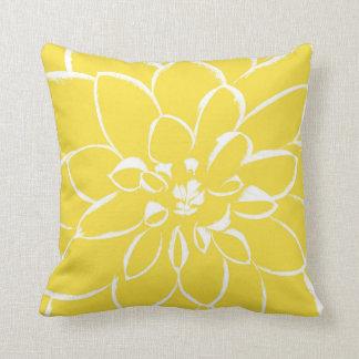 Gelbe Blume der Dahlie-Butterblume-| Kissen