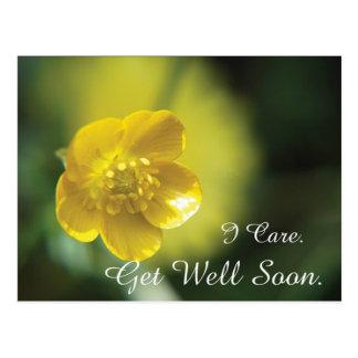 Gelbe Blume erhalten wohle Postkarte