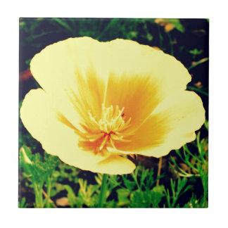 Gelbe Blume Kleine Quadratische Fliese