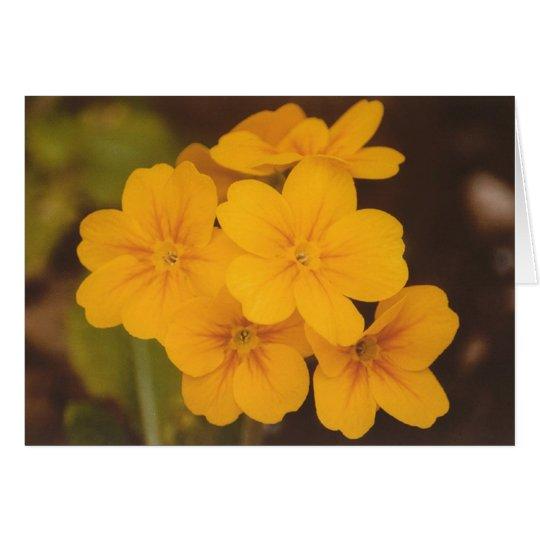 Gelbe Blume Notecard Mitteilungskarte