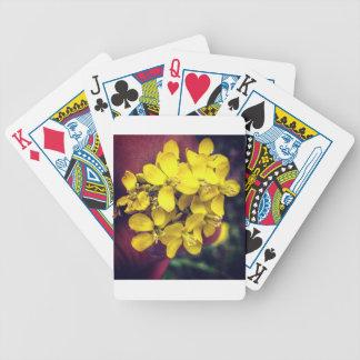 Gelbe Blumen Bicycle Spielkarten