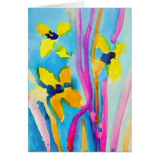 Gelbe Blumen durch Christina Miller, Alter 9 Mitteilungskarte