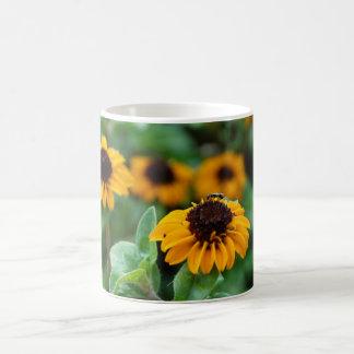 Gelbe Blumen-Foto-Tasse Kaffeetasse