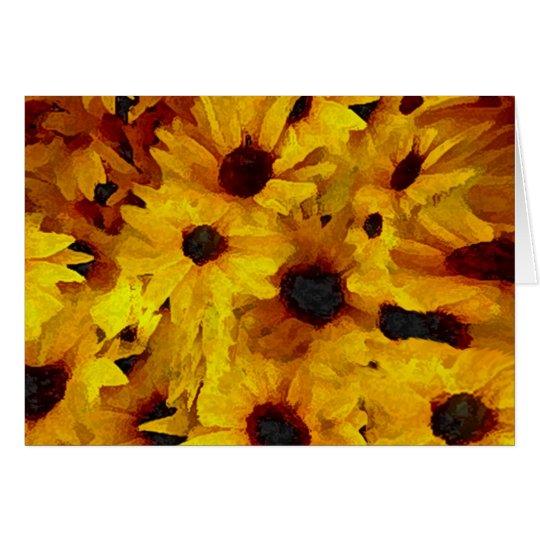 Gelbe Blumen Grußkarte
