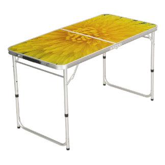 Gelbe Blumen-Heckklappen-Größe Pong Tabelle Beer Pong Tisch