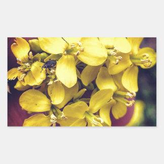 Gelbe Blumen Rechteckiger Aufkleber