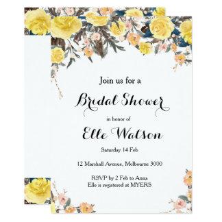 Gelbe BlumenBrautparty-Einladung 12,7 X 17,8 Cm Einladungskarte