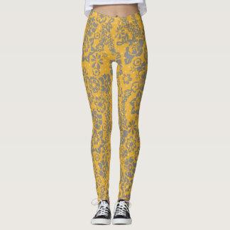 Gelbe Blumengamaschen Leggings