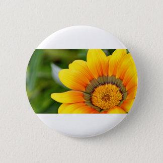 Gelbe Blüte Runder Button 5,7 Cm