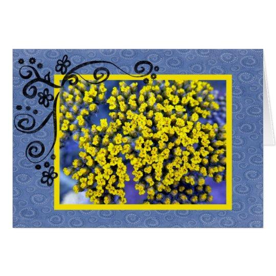 Gelbe Blüten Mitteilungskarte