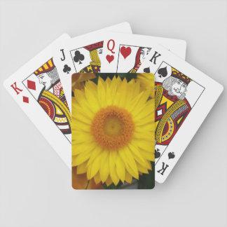 Gelbe Blüten-themenorientierte klassische Spielkarten