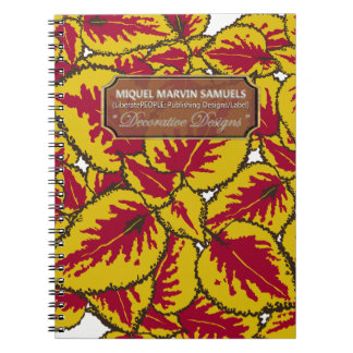 Gelbe Buntlippen-dekoratives modernes Notizbuch Spiral Notizblock