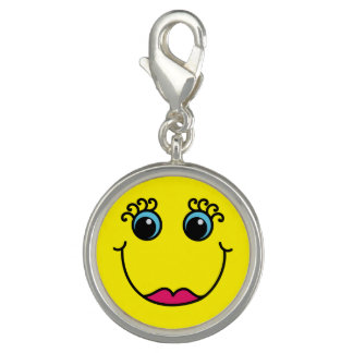Gelbe Dame Smiley Charm