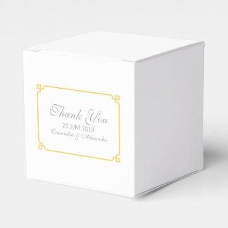 Gelbe Dekochic-Hochzeit Geschenkschachtel