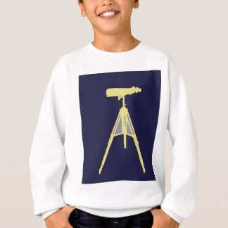 Gelbe Ferngläser im Marine-Blauhintergrund Sweatshirt