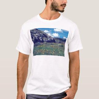 gelbe Festung von Sacsayhuaman Blumen T-Shirt