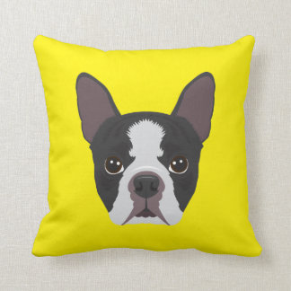 Gelbe französische Bulldogge Kissen
