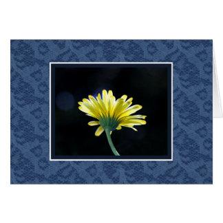 Gelbe Gänseblümchen-Blau-Spitze Karte