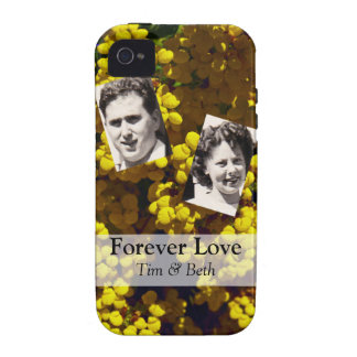 Gelbe Geldbeutel-Blumen Vibe iPhone 4 Hülle