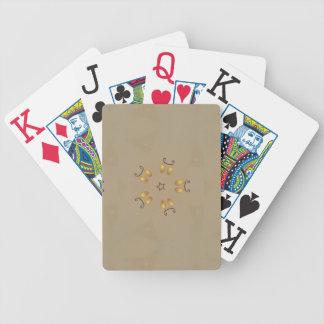 Gelbe goldene Ei-Muster-Osterei-rustikale Beige Pokerkarten