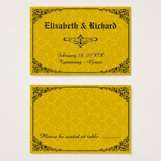 Gelbe gotische viktorianische visitenkarte