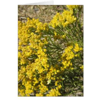 Gelbe Grasland-Wildblume-Karte Grußkarte