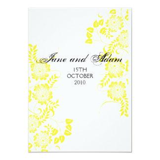 gelbe Hochzeit 12,7 X 17,8 Cm Einladungskarte