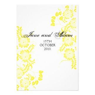 gelbe Hochzeit Personalisierte Ankündigungen